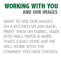 Printing our photos on fabric, splashbacks, wall paper