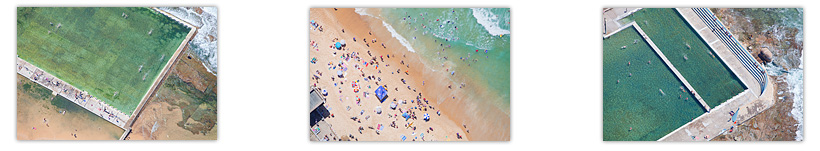 Newcastle Beach Aerial Landscape Photography