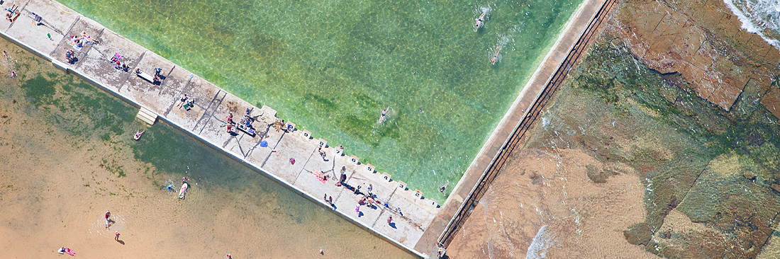 Merewether Baths Aerial