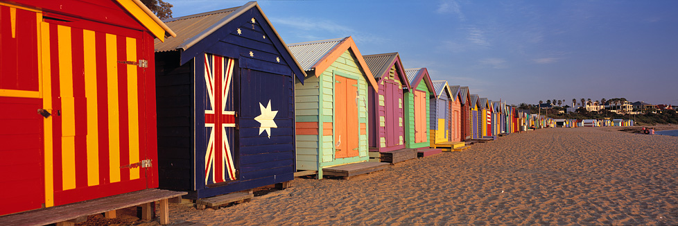 Brighton beach huts brighton beach photos st kilda for Beach house designs melbourne