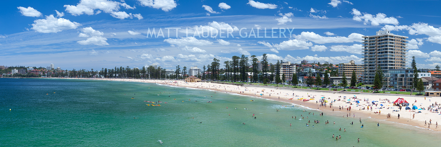 Manly Beach Summer Panoramic Pictures