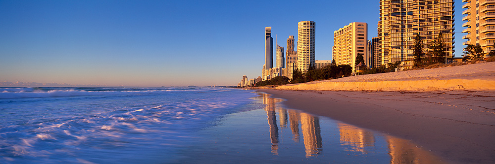 Sunrise Panoramic Surfers Paradise Landscape Photos Gold