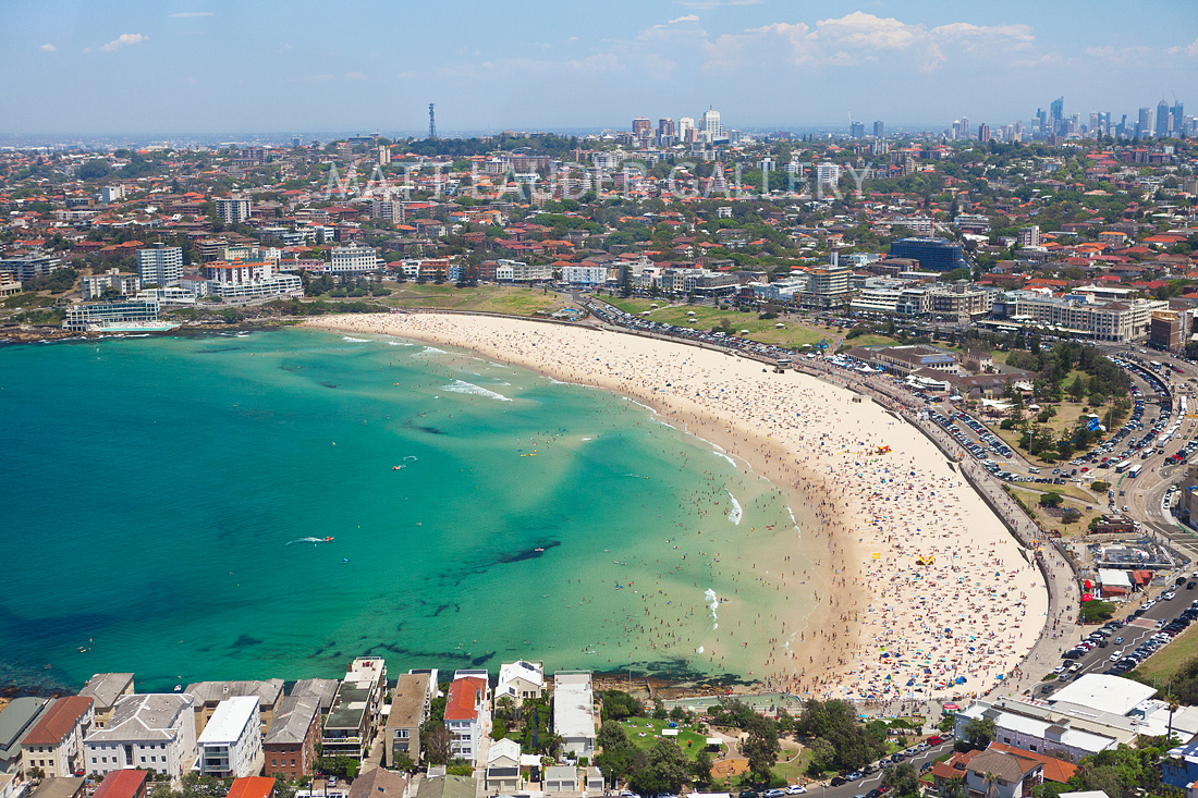 Aerial Image Of Bondi Beach From The Air Landscape