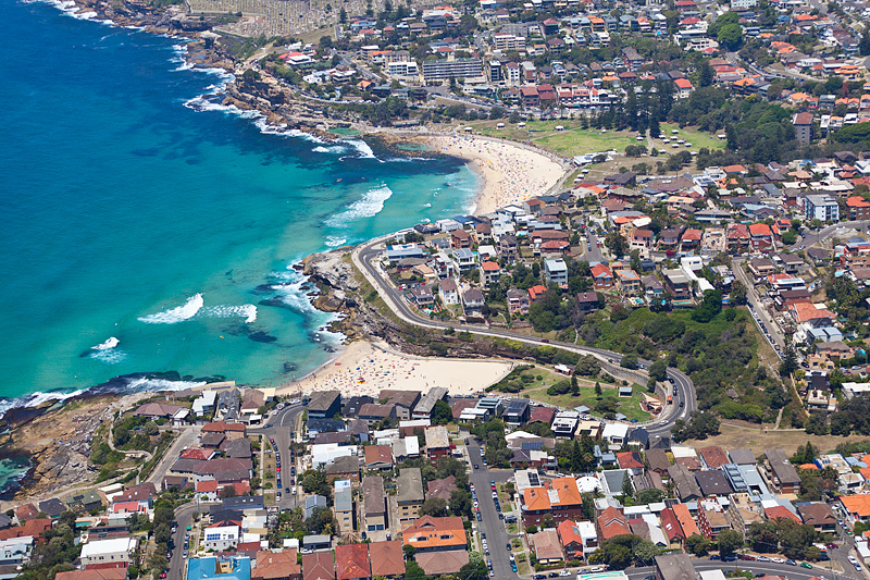 Tamarama to Bronte Beach Aerial Images