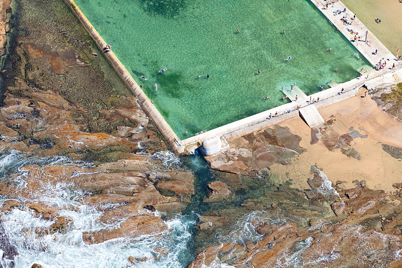 Merewether ocean Baths Aerial Photo