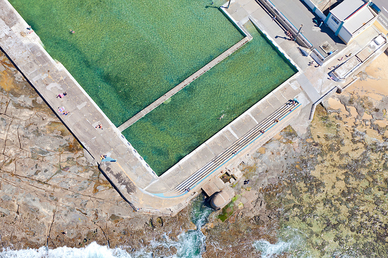 Newcastle Ocean Baths Aerial Photos