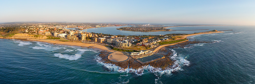 Newcastle Wide Angle Panoramic Aerial Photos