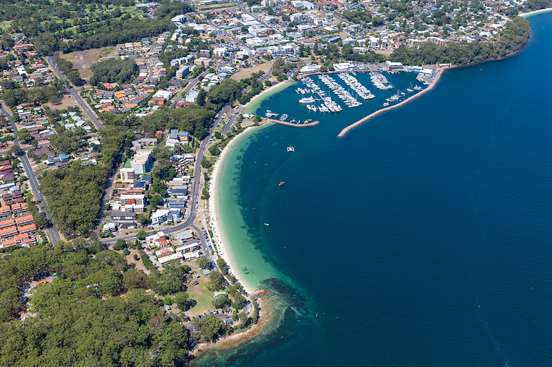 Nelson Bay Aerial Photography Port Stephens Images