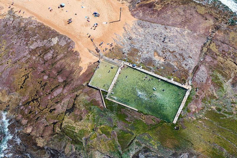 Mona Vale Ocean Baths Aerial Images