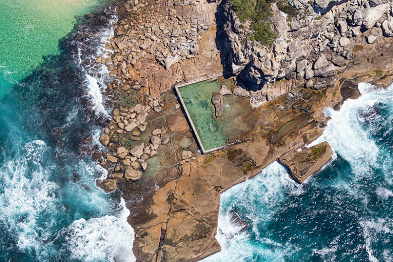North Curl Curl Ocean Baths Aerial Photo