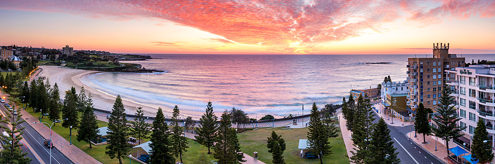 Coogee Beach Red Dawn Sunrise Images