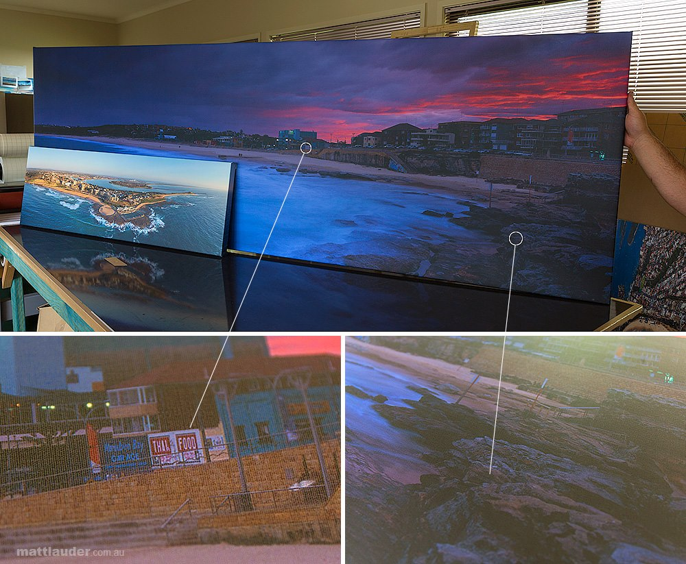 Incredible detail in large canvas photos