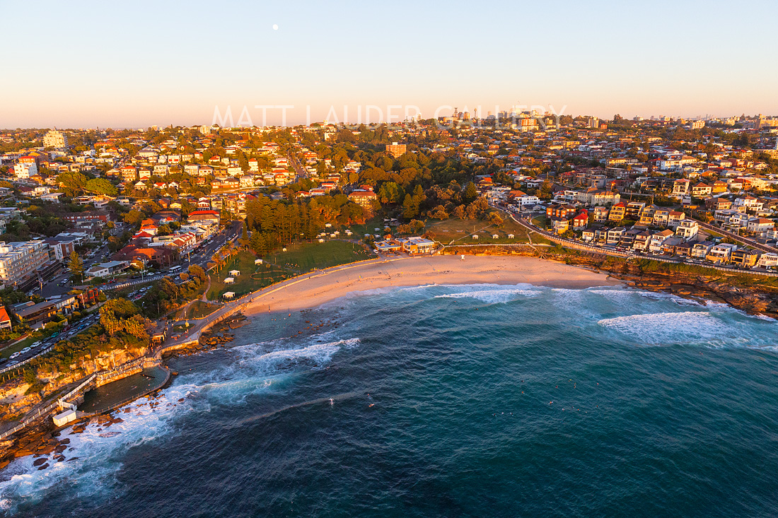Bronte Beach Aerial Sunrise Photos