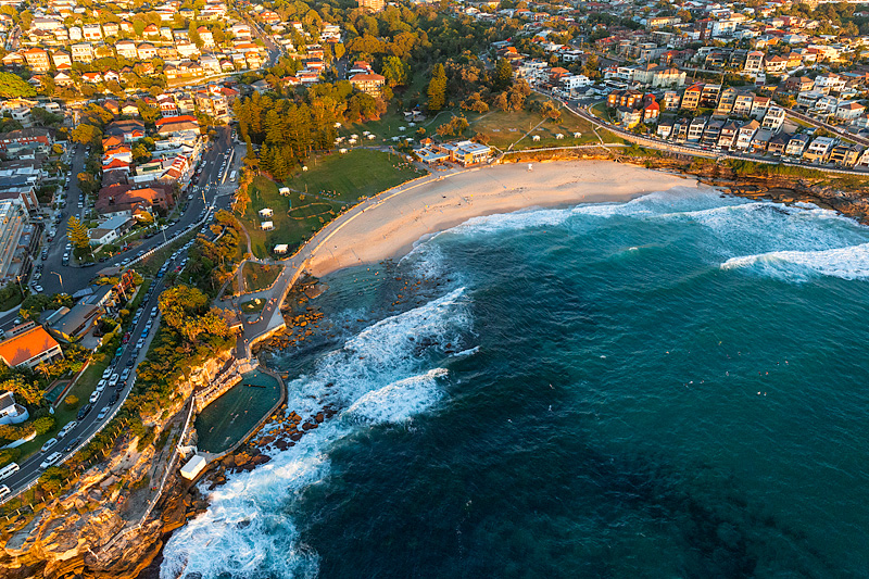 Bronte Beach Aerial Images Eastern Beaches Sydney