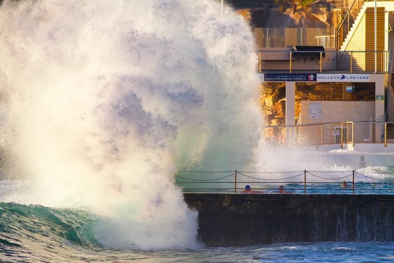Bondi Icebergs Wave Explosion