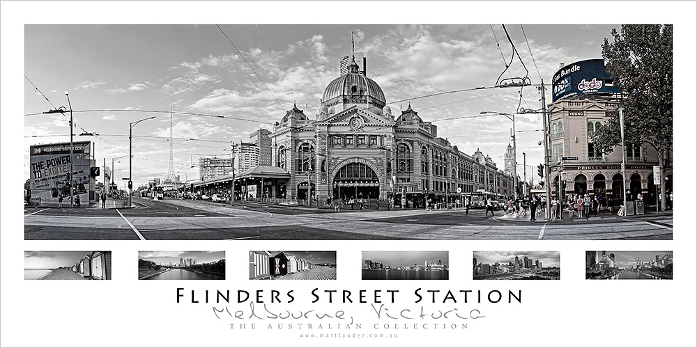 Flinders Street Station Wall Poster Series