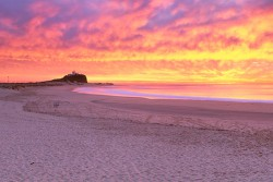 Fire Sky, Nobbys Beach