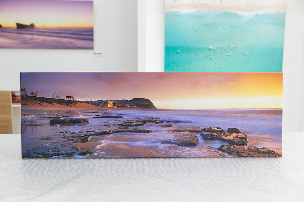 Bar Beach Sunrise Canvas Stretched