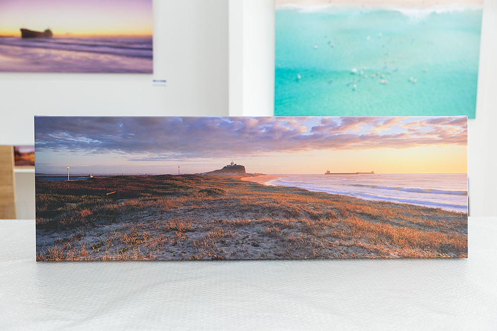 Nobbys Beach Stretched Canvas