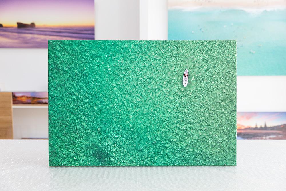 Bondi Paddle Boarder Stretched Canvas
