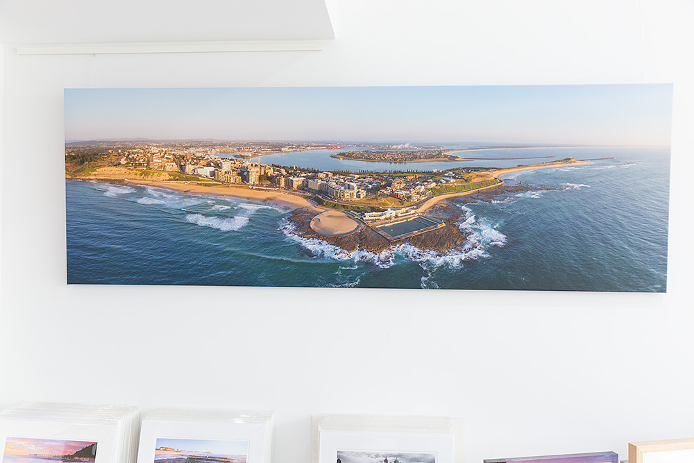 Newcastle Aerial Canvas Stretched Gallery