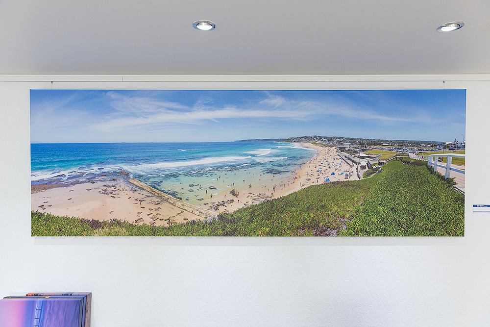 Bar Beach 90 inch Wide Stretched Canvas