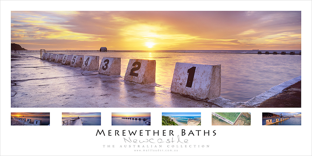 Merewether Beach Ocean Baths Poster