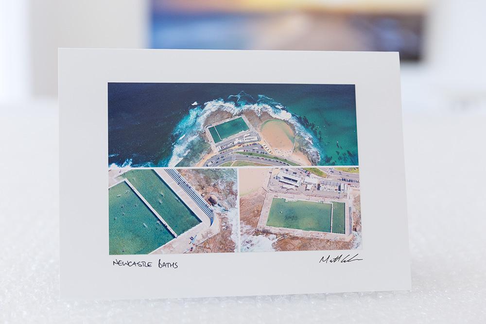 Newcastle Baths Aerial Greeting Card