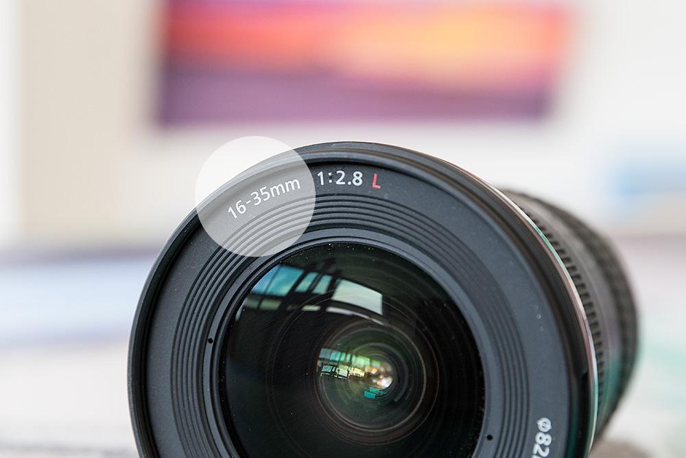 Focal Length Markings on Lens