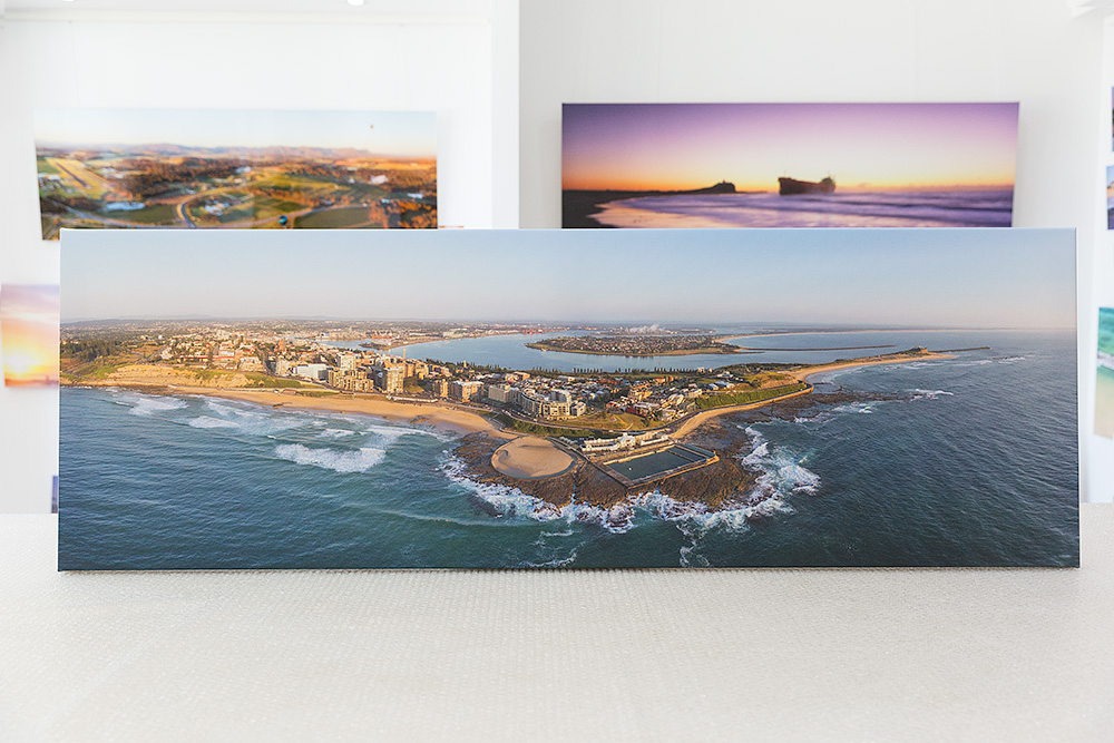Newcastle City Stretched canvas