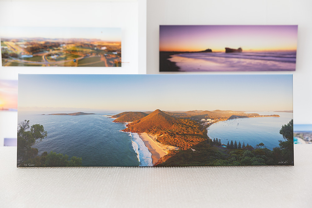 Mt Tomaree Stretched Canvas