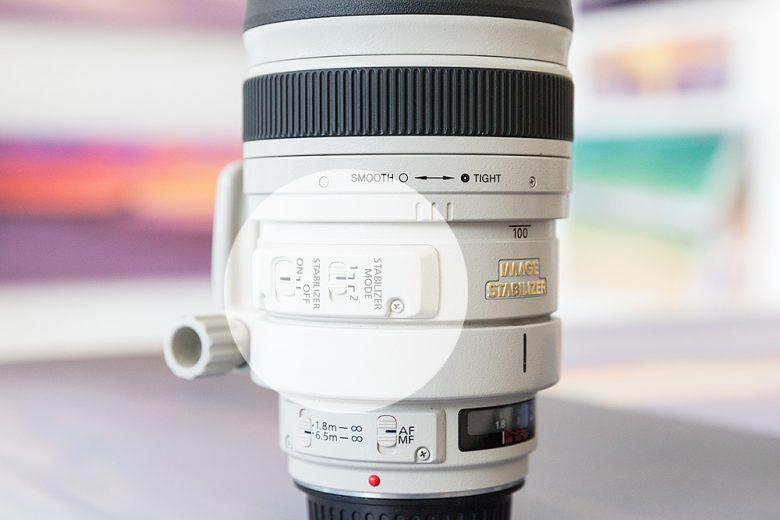 Image Staberliser Markings On a Lens