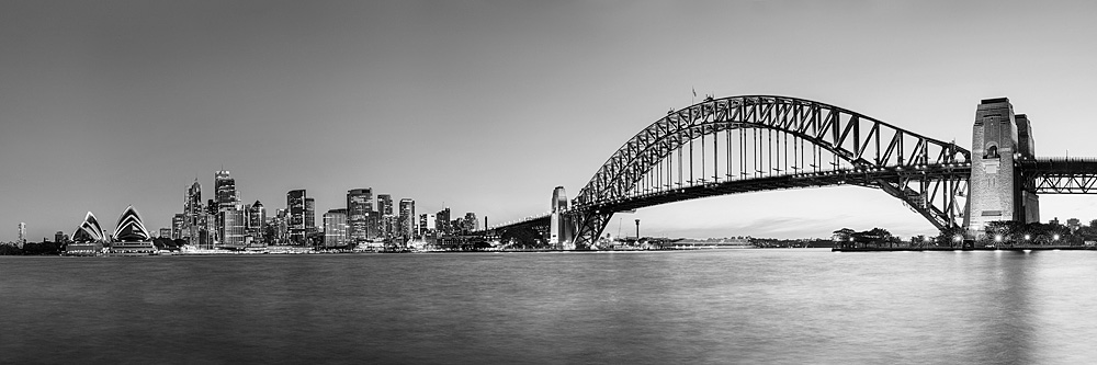 Sydney Harbour Black and White Photo Art