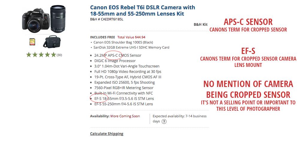 Canon Cropped Sensor Ad