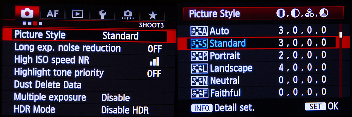 Canon 5D Mk III Picture Style