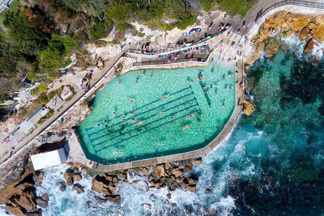 Bronte Baths Stretched Canvas