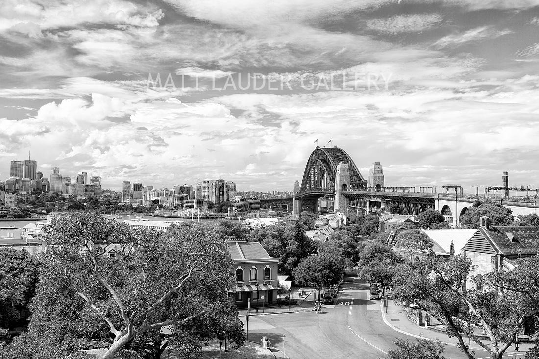Sydney Harbour Bridge Black and White