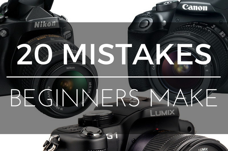 20 Mistakes beginners Make with Photography