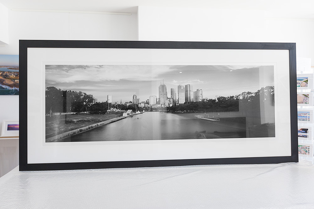 Melbourne City 75 inch framed photo