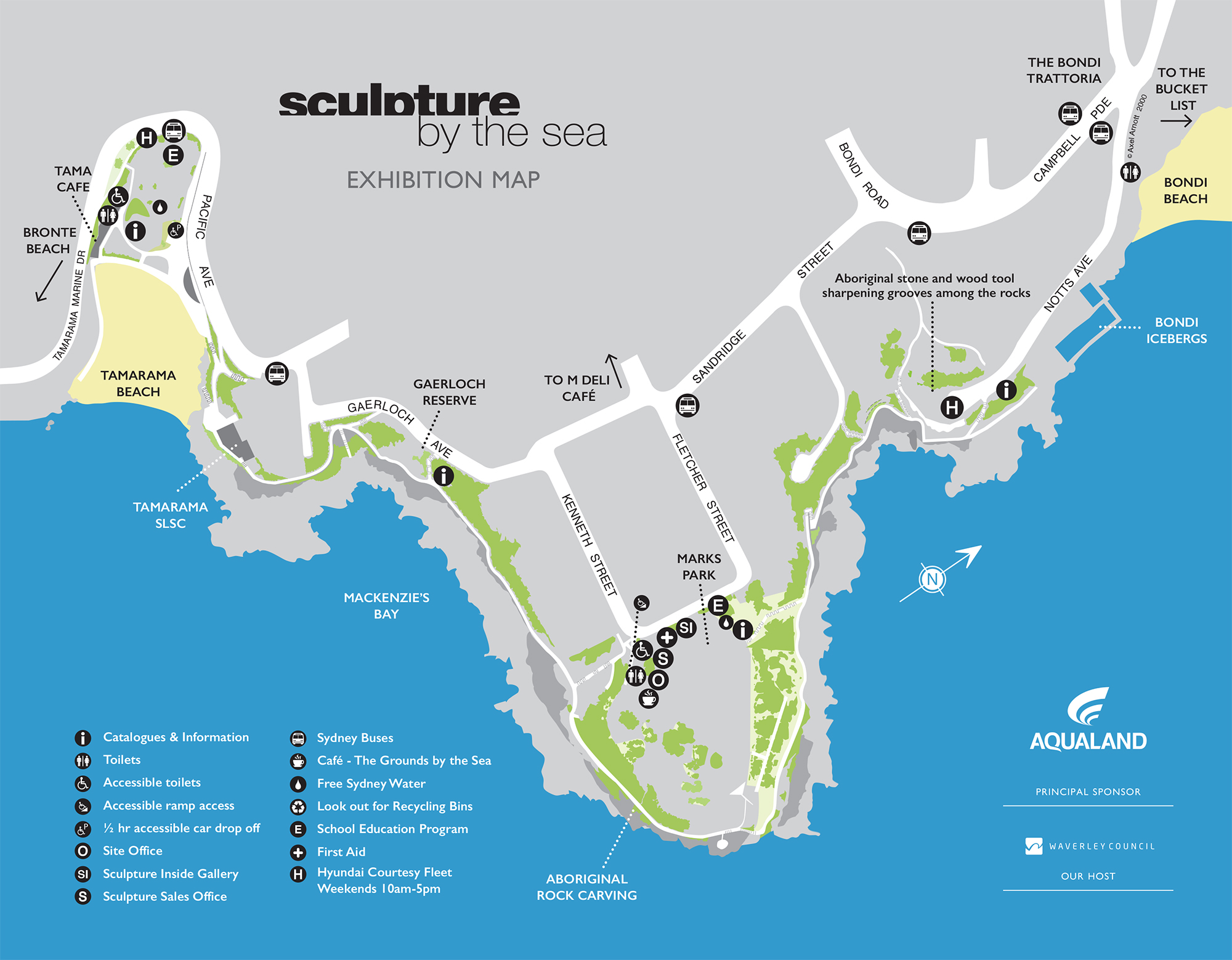 Sculpture By The Sea 2016 Map