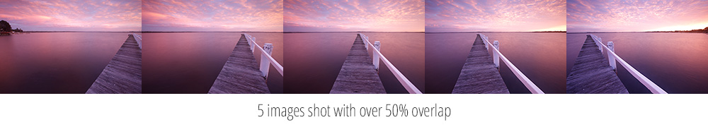 Shooting with 50% overlap