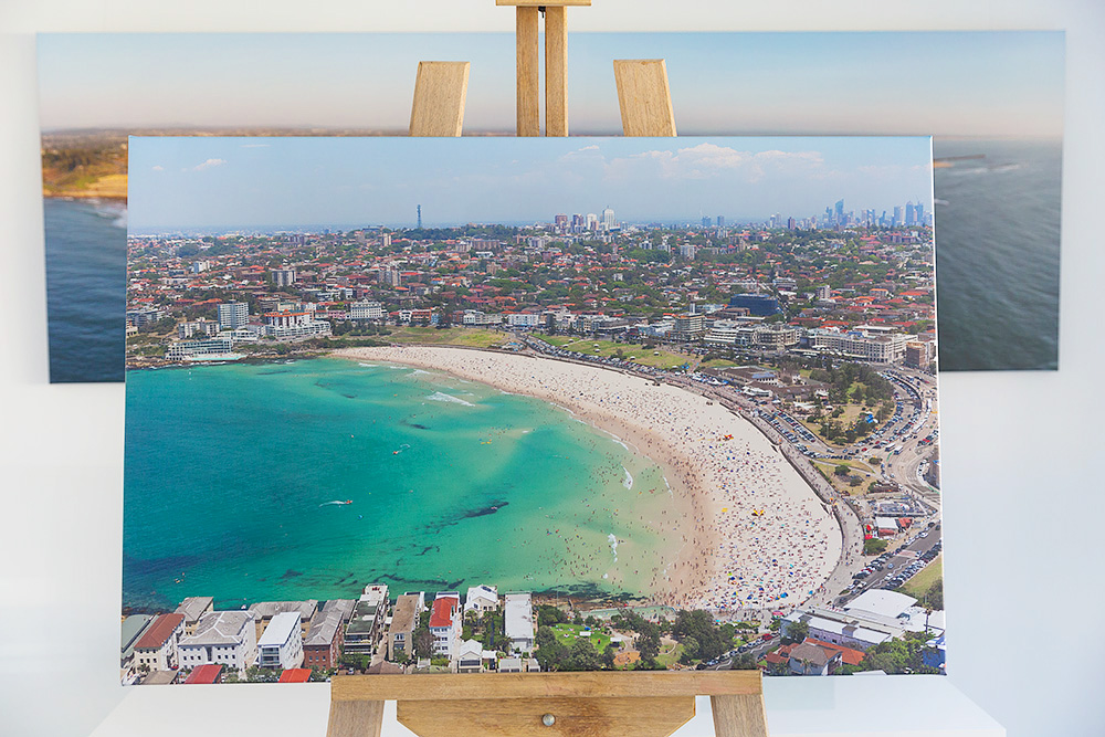 Bondi Beach Aerial Canvas Stretched