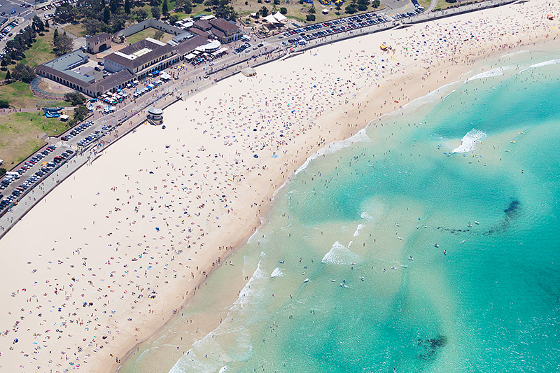 Bondi Beach Aerial Summer Fun Photos