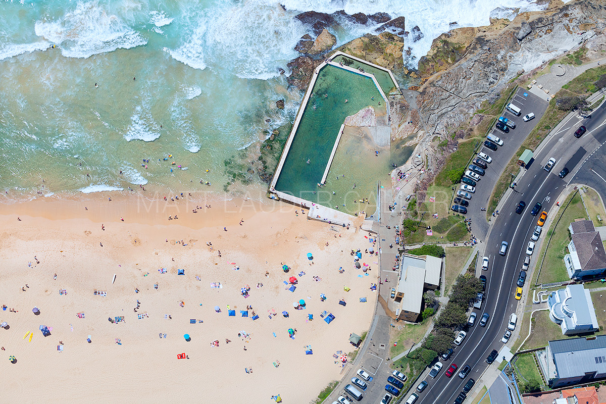 South Curl Curl beach Ocean Baths Photos Aerial