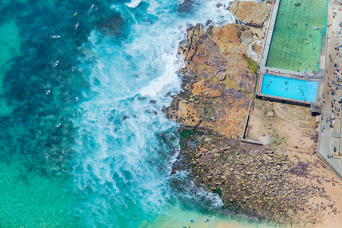 Dee Why Beach Ocean Baths Aerial Photos