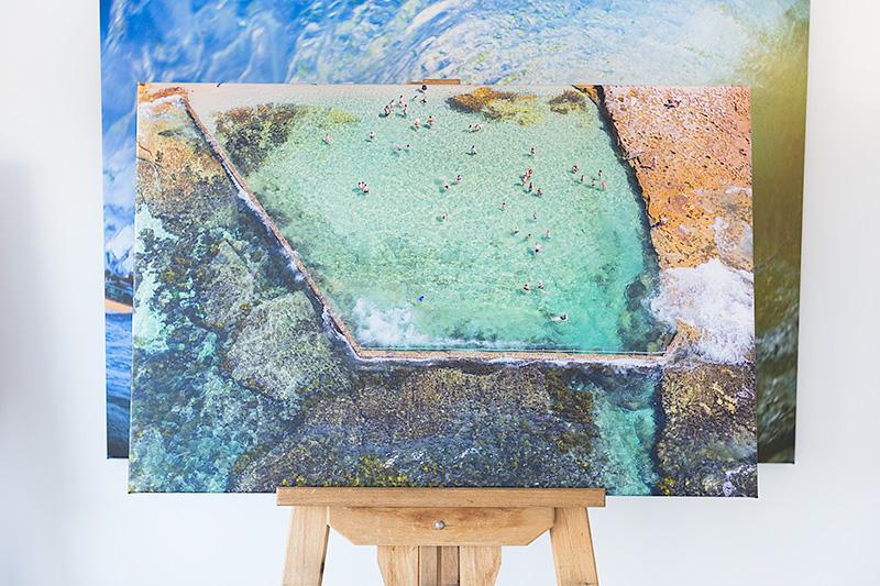 Oak Park Beach Stretched Canvas