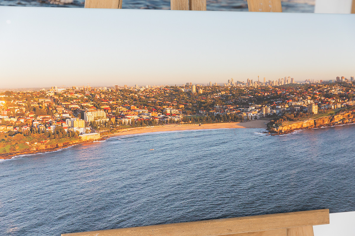 50 inch wide panoramic canvas coogee beach 1