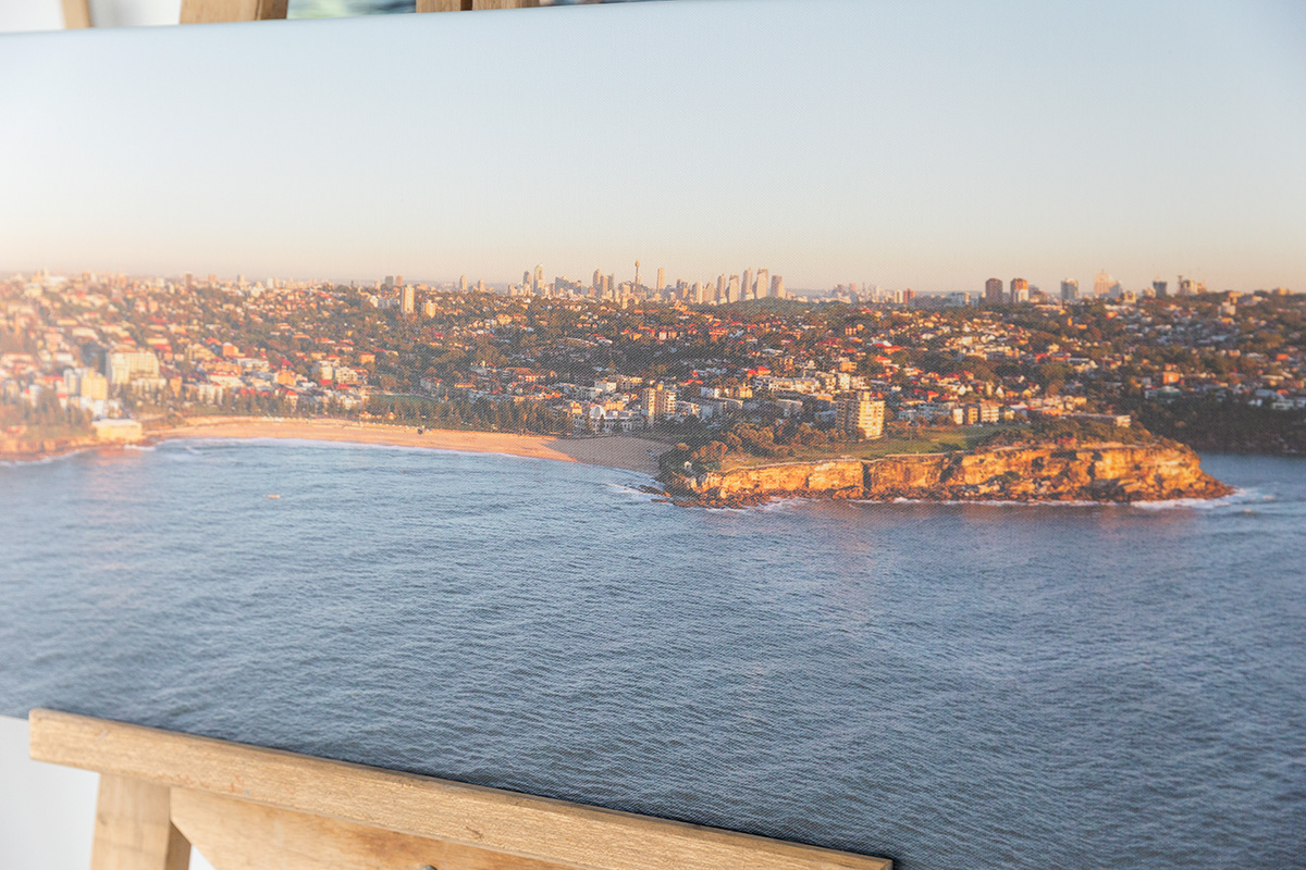 50 inch wide panoramic canvas coogee beach 2