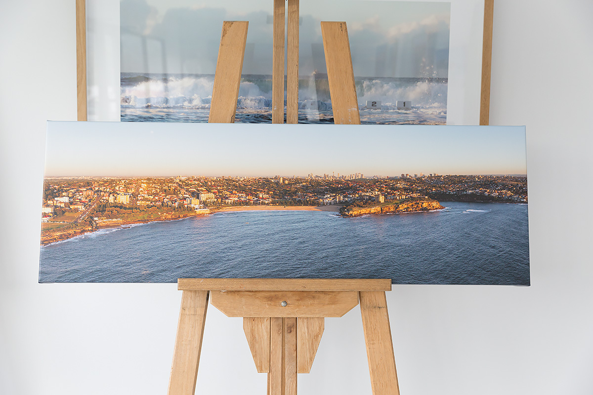 50 inch wide panoramic canvas coogee beach