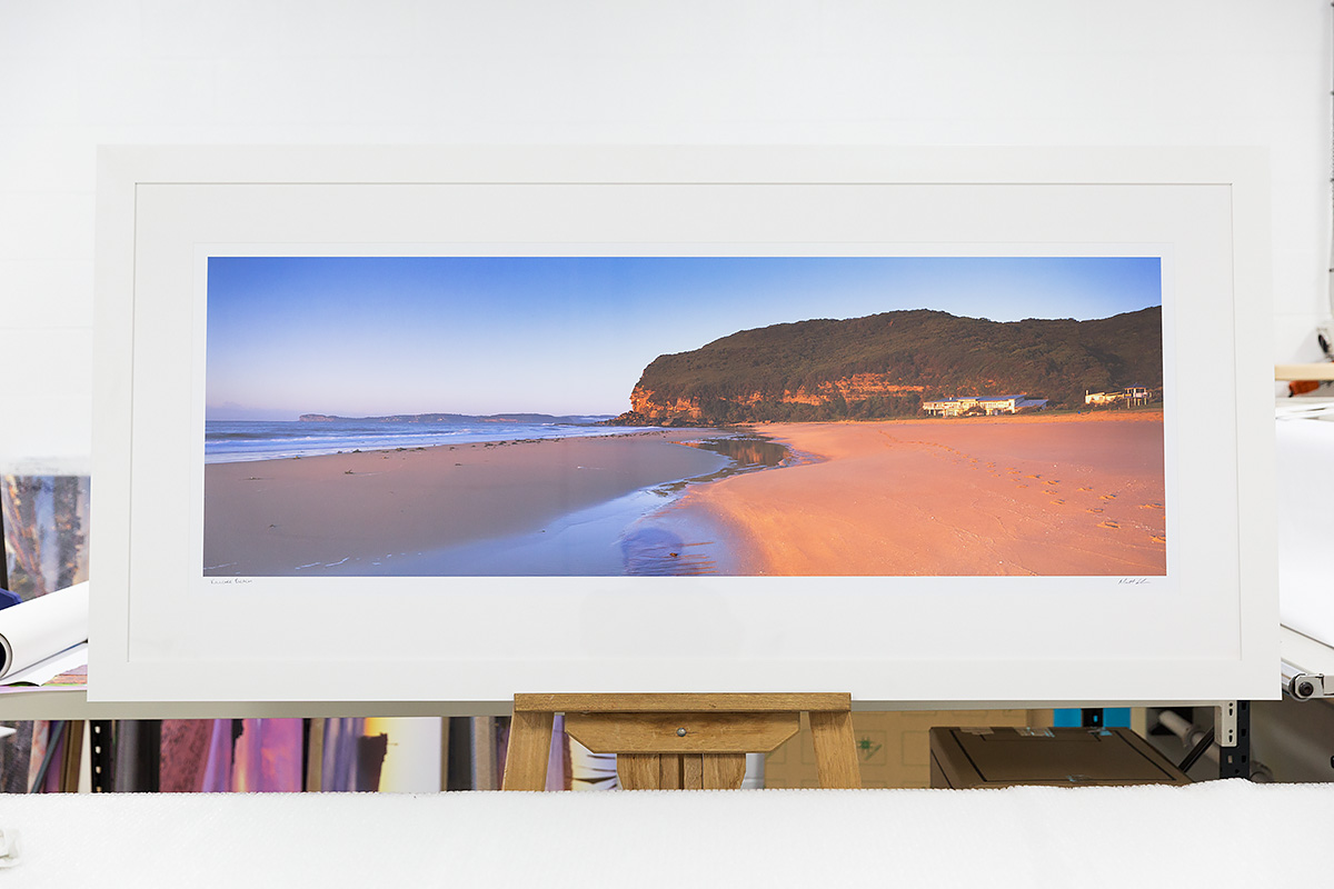 60 inch framed white Killcare Beach